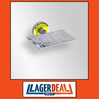Seifenablage, rechteckig 120 x 110 mm Messing Chrom / Gelb