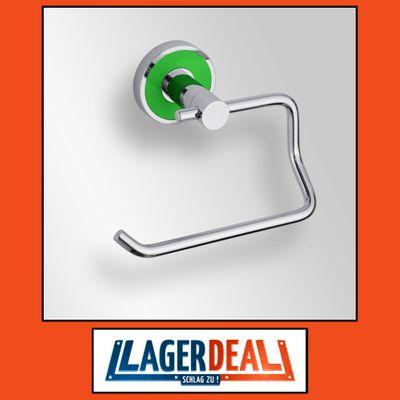 Papierrollenhalter ohne Deckel 135 x 80 x 70 mm Messing Chrom / Grün