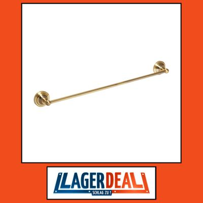 Handtuchhalter 665 x 65 x 65 mm  Messing Bronze