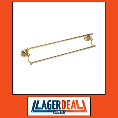 Doppelhandtuchhalter 665 x 125 x 115 mm  Messing Bronze