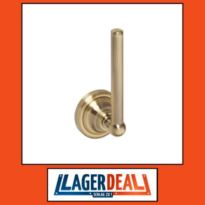 Reservepapierrollenhalter 65 x 170 x 65 mm  Messing Bronze
