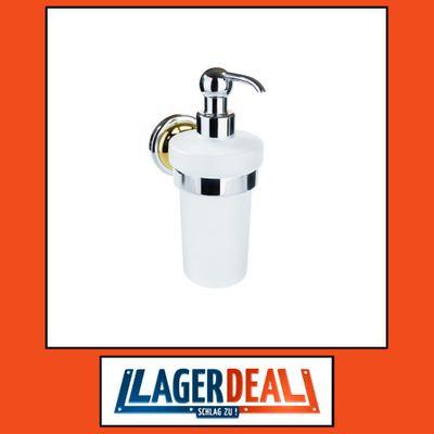 Glasseifenspender 80 x 190 x 140 mm 300ml Messing Chrom / Bronze